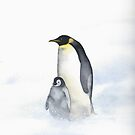 Penguins In The Wind by Ray Shuell
