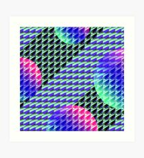 Jokerneon S-type Blade Globe Seamless Pattern Art Print
