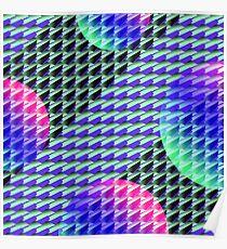 Jokerneon S-type Blade Globe Seamless Pattern Poster