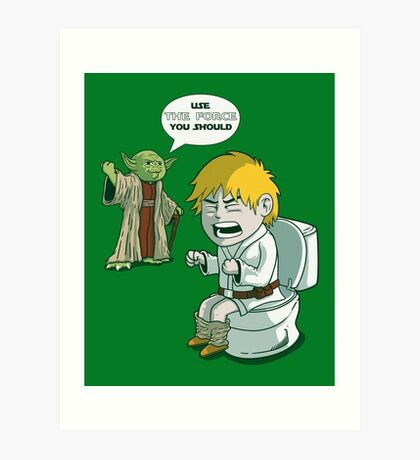 Sometimes the force is not enough. Art Print