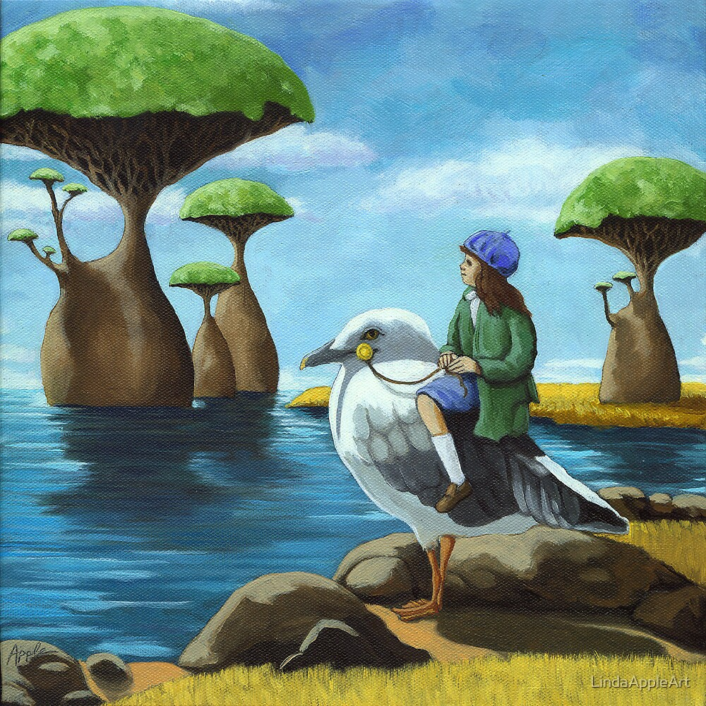 Trip to the Ocean Aviary  by LindaAppleArt