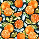 Oranges On Navy  by TigaTiga