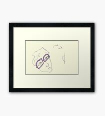 Mauve Specs Framed Print