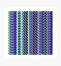 Jokerneon S-type Blade Stripe Seamless Pattern Art Print