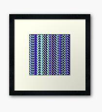 Jokerneon S-type Blade Stripe Seamless Pattern Framed Print