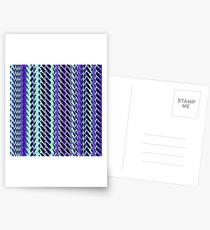 Jokerneon S-type Blade Stripe Seamless Pattern Postcards