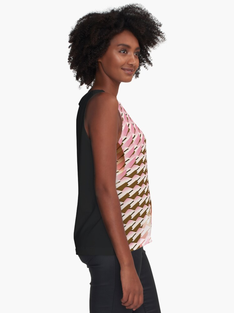 Alternate view of Coralcaramel S-type Blade Globe Seamless Pattern Sleeveless Top