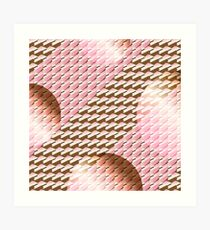 Coralcaramel S-type Blade Globe Seamless Pattern Art Print