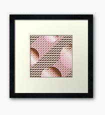 Coralcaramel S-type Blade Globe Seamless Pattern Framed Print