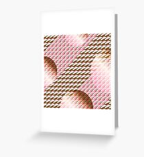 Coralcaramel S-type Blade Globe Seamless Pattern Greeting Card