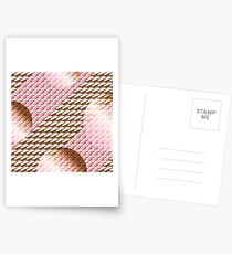 Coralcaramel S-type Blade Globe Seamless Pattern Postcards