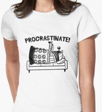 Procrastinate Robot Womens Fitted T-Shirt