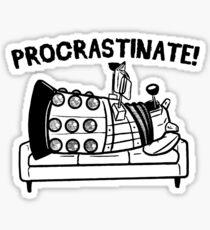 Procrastinate Robot Sticker