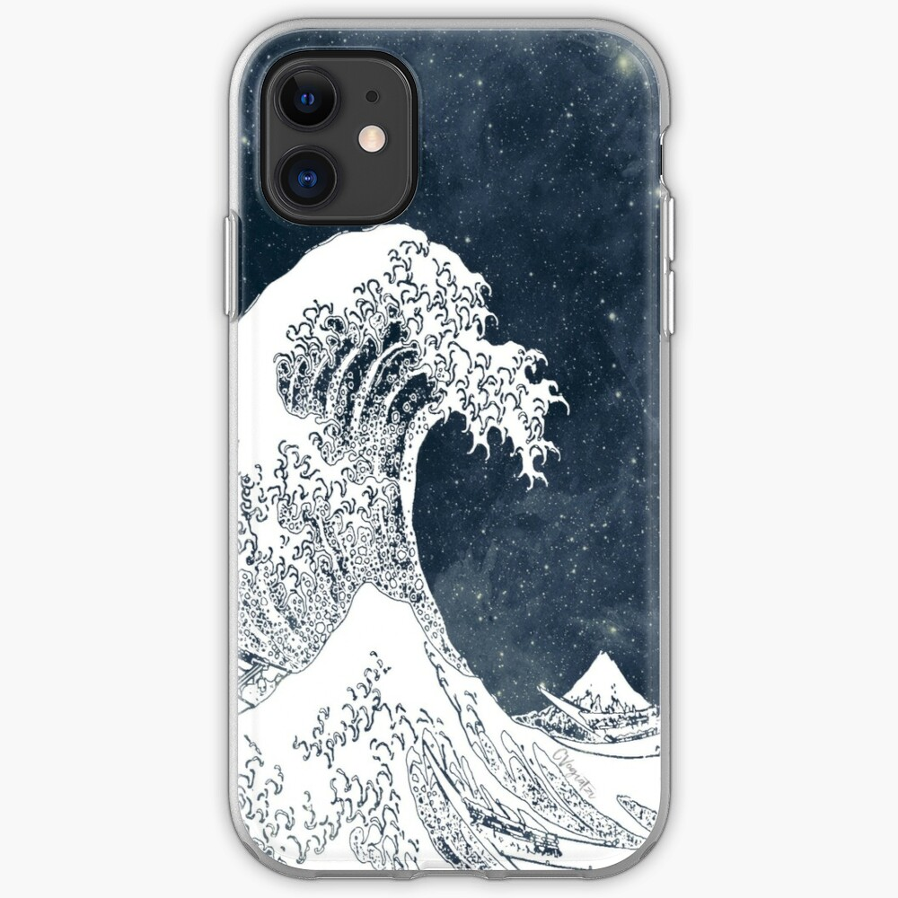 The Great Wave of a Star System iPhone Soft Case