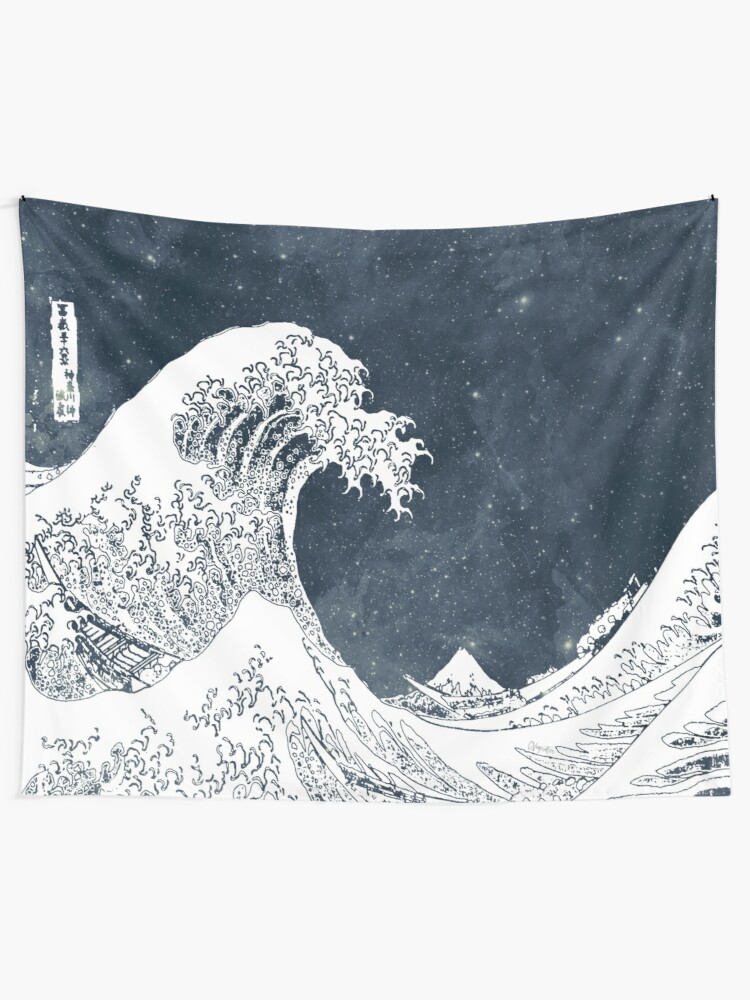 Alternate view of The Great Wave of a Star System Tapestry