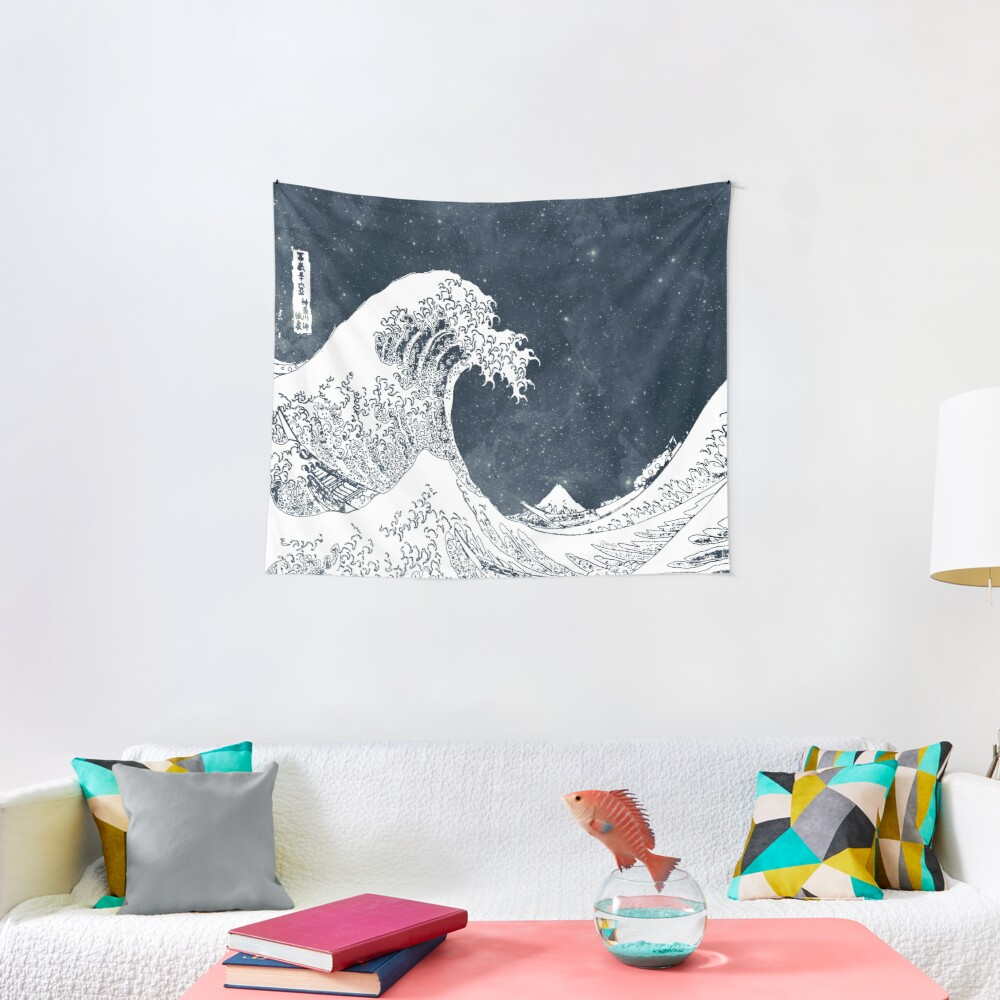 The Great Wave of a Star System Tapestry