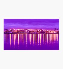 Reflection lights waterfront Photographic Print