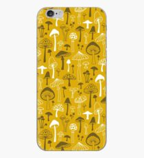 Mushrooms in Yellow iPhone Case
