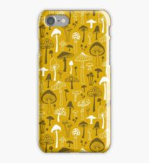 Mushrooms in Yellow iPhone Case/Skin