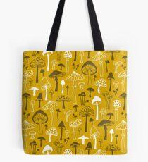 Mushrooms in Yellow Tote Bag