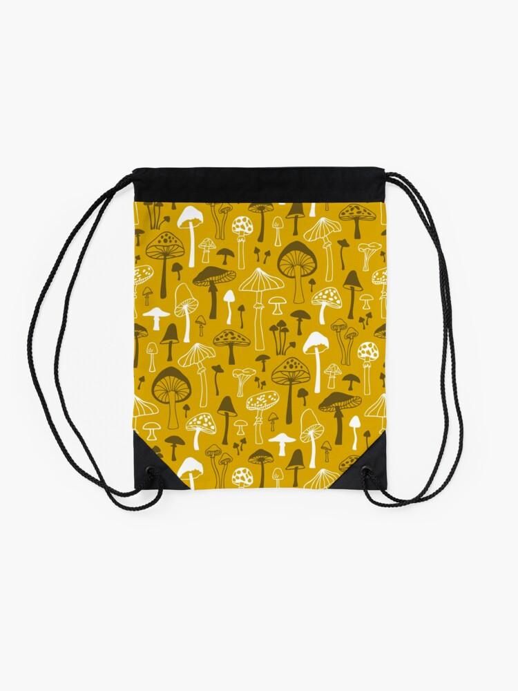 Alternative Ansicht von Pilze in Gelb Turnbeutel