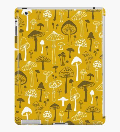 Mushrooms in Yellow iPad Case/Skin