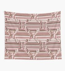 Coralcaramel S-type Blade Distort Seamless Pattern Wall Tapestry