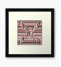 Coralcaramel S-type Blade Distort Seamless Pattern Framed Print