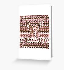 Coralcaramel S-type Blade Distort Seamless Pattern Greeting Card