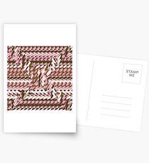 Coralcaramel S-type Blade Distort Seamless Pattern Postcards
