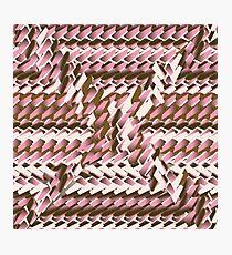 Coralcaramel S-type Blade Distort Seamless Pattern Photographic Print