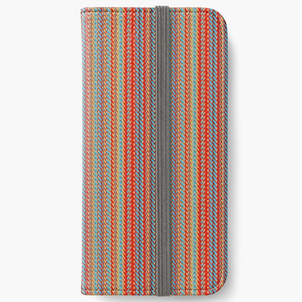 Sunblaze S-type Blade Stripe Seamless Pattern iPhone Wallet