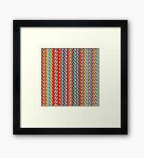Sunblaze S-type Blade Stripe Seamless Pattern Framed Print
