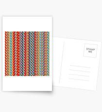 Sunblaze S-type Blade Stripe Seamless Pattern Postcards