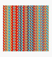 Sunblaze S-type Blade Stripe Seamless Pattern Photographic Print