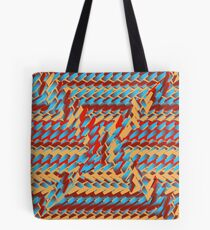 Sunblaze S-type Blade Distort Seamless Pattern Tote Bag