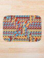 Sunblaze S-type Blade Distort Seamless Pattern Bath Mat