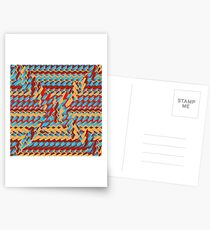 Sunblaze S-type Blade Distort Seamless Pattern Postcards