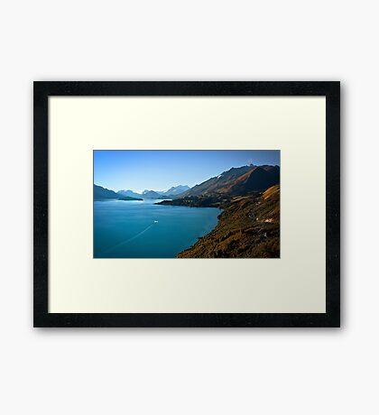 By Road or Lake Framed Print