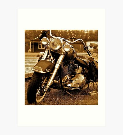 Harley  Davidson  . Views (217) , Favs (4). Thank you Easy Riders !!!! Art Print