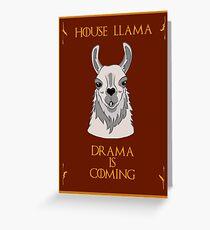 House Llama  Greeting Card