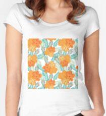 Brush Flower Women's Fitted Scoop T-Shirt