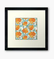Brush Flower Framed Print