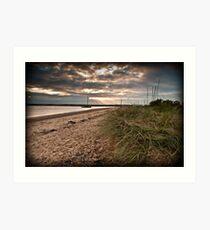West Mersea beach, Essex Art Print