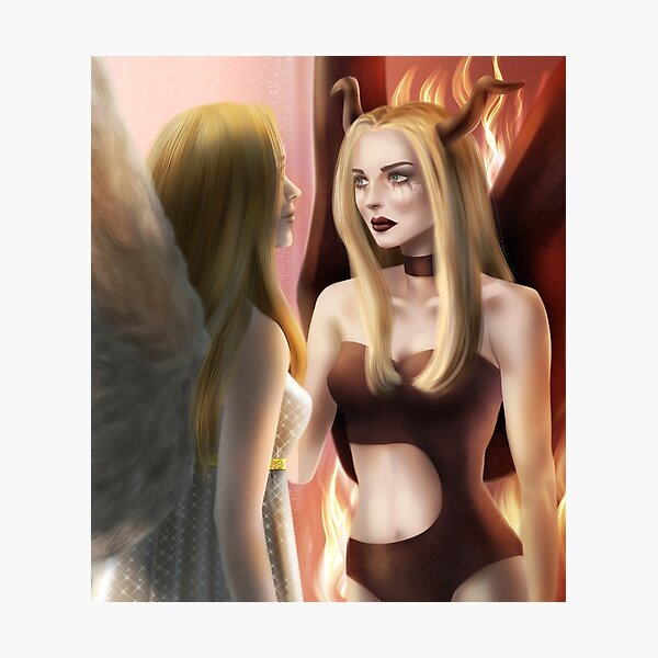Angel & Devil Photographic Print