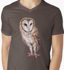 Barn owl drawing Men's V-Neck T-Shirt