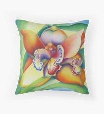 Orchid with personal interpretations Throw Pillow
