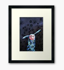 Sad, lonely and bored Framed Print