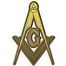 Freemason Compass Golden by IBMClothing