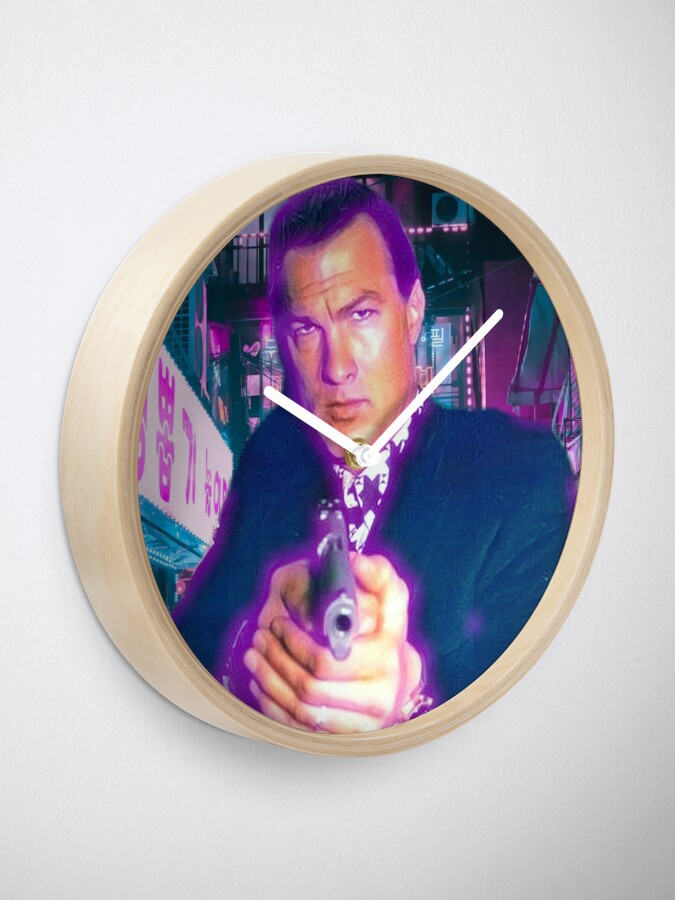 Alternate view of Steven seagal Clock